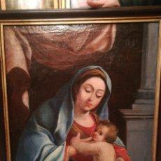 Arte: VIRGEN CON NIÑO ESCUELA ITALIANA DEL XVII. Lote 185917991