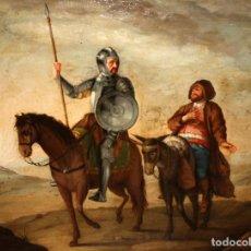 Arte: DON QUIJOTE Y SANCHO PANZA - SG XVIII - SEGUIDOR DE JOSE DEL CASTILLO.. Lote 185936243