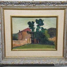 Arte: PAISAJE PINTURA SOBRE CARTON FIRMADO C.1933. Lote 185951503