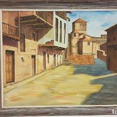Arte: OLEO SOBRE LIENZO PAISAJE CASTILLA FIRMADO J ORIAGA. Lote 185959513