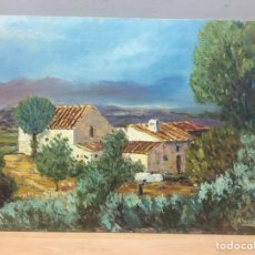 Arte: PINTURA AL ÓLEO SOBRE TABLA FIRMADA. Lote 185959867