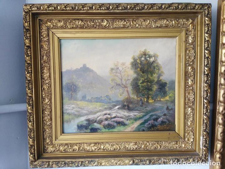 OLEO PAISAJE SIGLO XIX LESBROYERES FIRMADO MERCITHORT (Arte - Pintura - Pintura al Óleo Moderna siglo XIX)