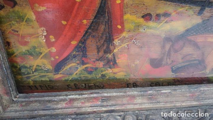 Arte: OLEO SOBRE TABLA BATALLA SIGLO XVIII - Foto 2 - 185970403