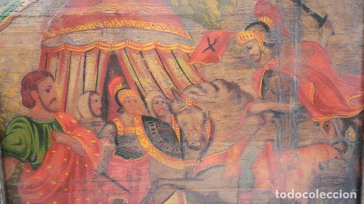 Arte: OLEO SOBRE TABLA BATALLA SIGLO XVIII - Foto 3 - 185970403