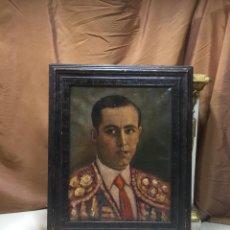 Arte: ÓLEO TORERO JOSELITO (JOSÉ GÓMEZ ORTEGA), AÑOS VEINTE.. Lote 185980591