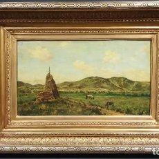 Arte: OLEO PAISAJE VACAS FRANCIA SIGLO XIX. Lote 185981500