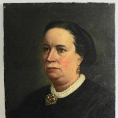 Arte: B-891. OLEO SOBRE LIENZO, RETRATO MUJER. S.XIX.. Lote 185982108