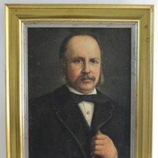 Arte: B-892. OLEO SOBRE LIENZO, RETRATO CABALLERO. S.XIX.. Lote 185982505