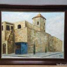 Arte: PINTURA AL ÓLEO SOBRE LIENZO FIRMADO POR MAXI. Lote 185984178