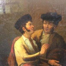 Arte: ÓLEO SIGLO XIX BANDOLEROS EN LA TABERNA. COSTUMBRISTA. ESCUELA ANDALUZA. Lote 185988718