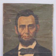 Arte: RETRATO DE ABRAHAM LINCOLN. OLEO S/ LIENZO. FIRMADO. FINALES SIGLO XIX. Lote 186064977