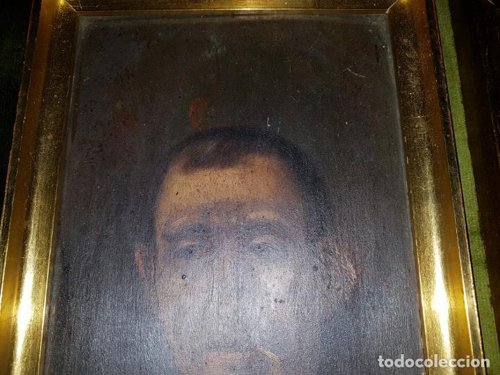 Arte: PAREJA DE OLEOS SOBRE TABLAS. SIGLO XIX - Foto 3 - 186106680