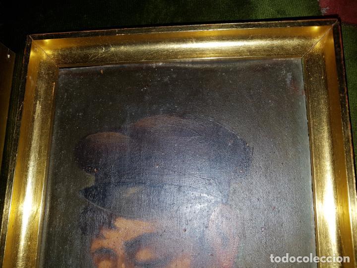 Arte: PAREJA DE OLEOS SOBRE TABLAS. SIGLO XIX - Foto 4 - 186106680