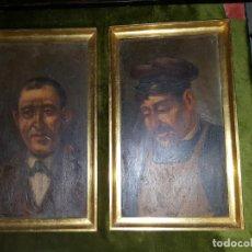 Arte: PAREJA DE OLEOS SOBRE TABLAS. SIGLO XIX . Lote 186106680