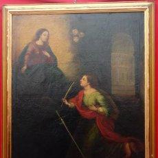 Arte: ÓLEO S/LIENZO -SANTA SUSANA-. ESCUELA MARIANO SALVADOR MAELLA, FINALES S. XVII. DIM.- 115X95 CMS . Lote 186106841