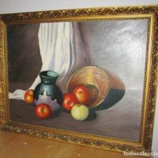 Arte: OLEO SOBRE TELA FIRMADO BODEGÓN. MORENO. Lote 186107901