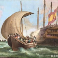Arte: EVASIÓN DEL BUQUE PRISIÓN CASTILLA VIEJA, POR MANUEL MATOSÉS (VALENCIA 1863- PARÍS 1956). Lote 186129277