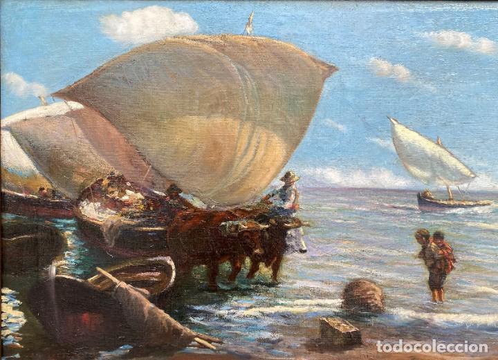 NAVARRO LLORENS JOSÉ (1867-1923). PINTOR ESPAÑOL. OLEO SOBRE TELA (Arte - Pintura - Pintura al Óleo Moderna siglo XIX)