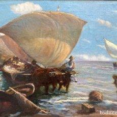 Arte: NAVARRO LLORENS JOSÉ (1867-1923). PINTOR ESPAÑOL. OLEO SOBRE TELA. Lote 186143991