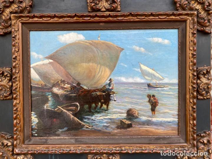 Arte: NAVARRO LLORENS José (1867-1923). Pintor Español. Oleo sobre tela - Foto 2 - 186143991