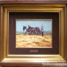 Arte: OLEO SOBRE LIENZO REMIGIO HERNANDEZ MARTIN 1940. Lote 186154558