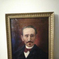 Arte: OLEO SOBRE LIENZO RETRATO CABALLERO. Lote 186187491