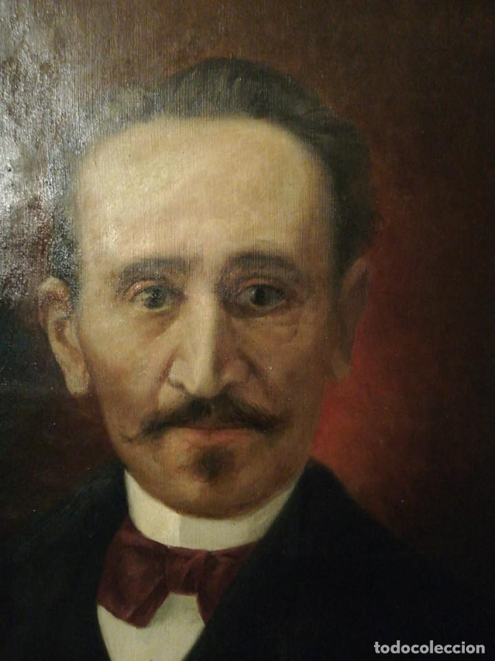 Arte: OLEO SOBRE LIENZO RETRATO CABALLERO - Foto 2 - 186187491