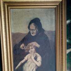 Arte: ANTIGUO Y CURIOSO CUADRO OLEO LIENZO. Lote 186213193