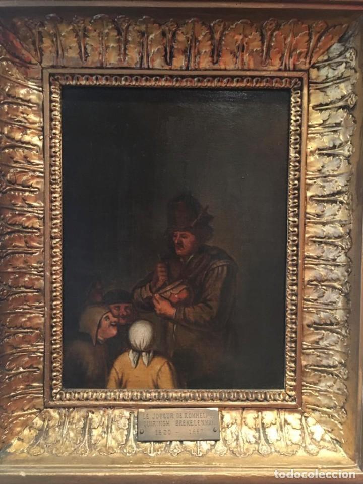LE JOEUR DE ROMMELPOT. QUIRINGH GERRITSZ. VAN BREKELENKAM (Arte - Pintura - Pintura al Óleo Antigua siglo XVII)