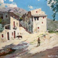 Arte: FRANCISCO PAYA SANCHIS (VALENCIA, 1892 - 1977) OLEO SOBRE TELA. PUEBLO DEL PIRINEO. Lote 186263242