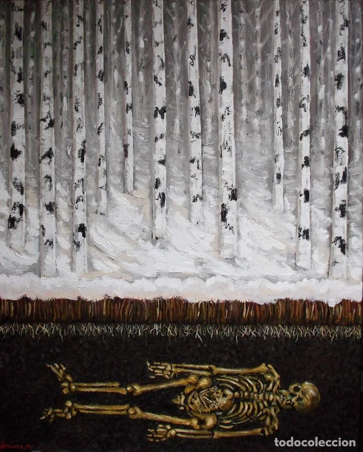 INVIERNO, ÓLEO SOBRE LIENZO, 81 X 65 (Arte - Pintura - Pintura al Óleo Contemporánea )