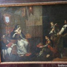 Arte: ARISTOCRACIA 100CMX 80CM. ESCENA ARISTOCRATICA CUADRO DE SALON CIRCA 1700.. Lote 186305252