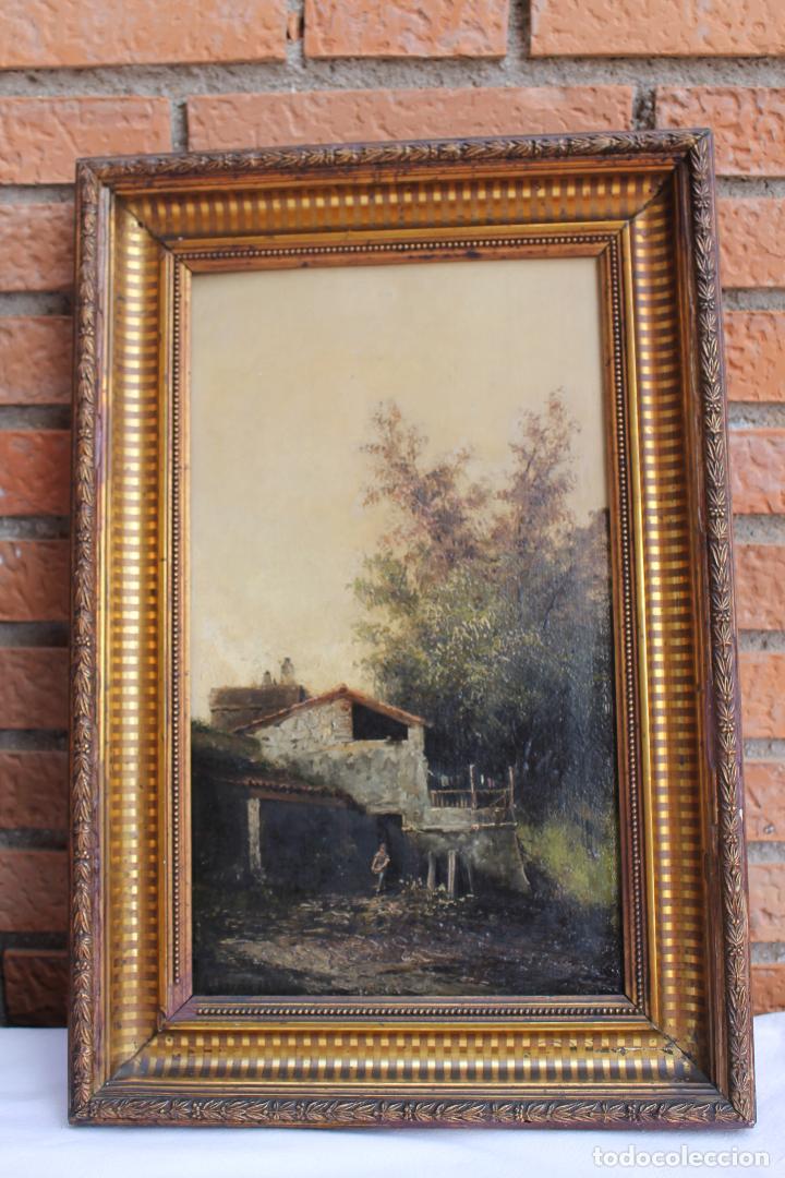 Arte: PAREJA DE OLEOS DE BENET MERCADE SIGLO XIX - Foto 6 - 186324133