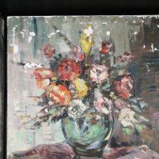 Arte: EXPLOSION DE COLORESEN ESTE JARRON CON FLORES. Lote 186338217