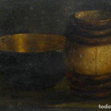 Arte: ÓLEO SOBRE TABLA BODEGÓN ESCUELA ESPAÑOLA SIGLO XIX. Lote 186345661