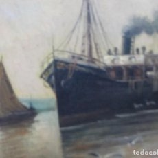 Arte: BONITA PINTURA AL OLEO.BARCO.SIGLO XIX.. Lote 186356250