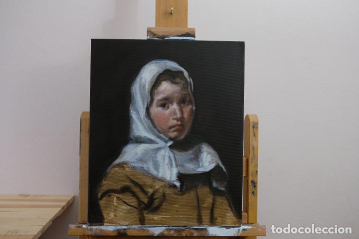 Arte: Copia de Velázquez, Una joven campesina - Foto 2 - 186362956