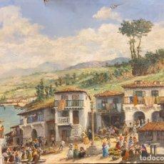 """Arte: ÓLEO SOBRE LIENZO DE MIGUEL PRADILLA """"RÍA DE NOYA"""". Lote 186366475"""