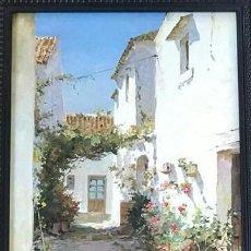 Arte: MANUEL FERNANDEZ. PAREJA DE ÓLEOS SOBRE TABLA. BIEN ENMARCADOS. PAISAJES RURALES.. Lote 114849119