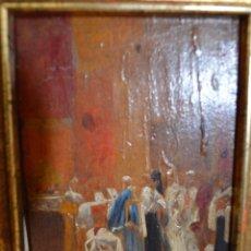 Arte: OLEO SOBRE TABLA CON ESCENA ECLESIASTICA. SIGLO XIX. Lote 186404000