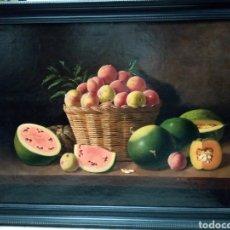 Arte: FANTÁSTICO BODEGÓN MANUEL MILLAN RODRIGUEZ. ( VENTURA MILLAN PADRE). OLEO LIENZO. Lote 186417785