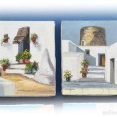 Arte: COLECCIÓN 2 PINTURAS AL ÓLEO SOBRE LIENZO Y BASTIDOR 22X27. Lote 186418231