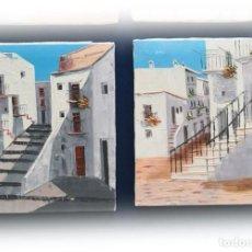 Arte: COLECCIÓN 2 PINTURAS AL ÓLEO SOBRE LIENZO Y BASTIDOR 22X27. Lote 186418285