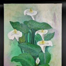 Arte: PRECIOSOS FLORES BLANCAS. Lote 186436217
