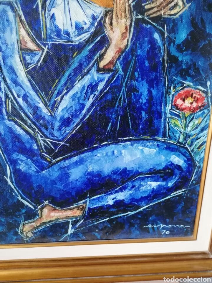 Arte: Vicente de Espona 1970 (1918 - 1995) con marco 90x65 / sin marco 70x44 cm - Foto 11 - 186460331