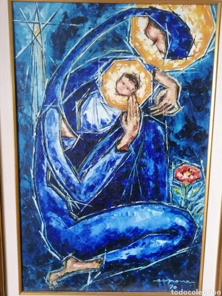 Arte: Vicente de Espona 1970 (1918 - 1995) con marco 90x65 / sin marco 70x44 cm - Foto 13 - 186460331