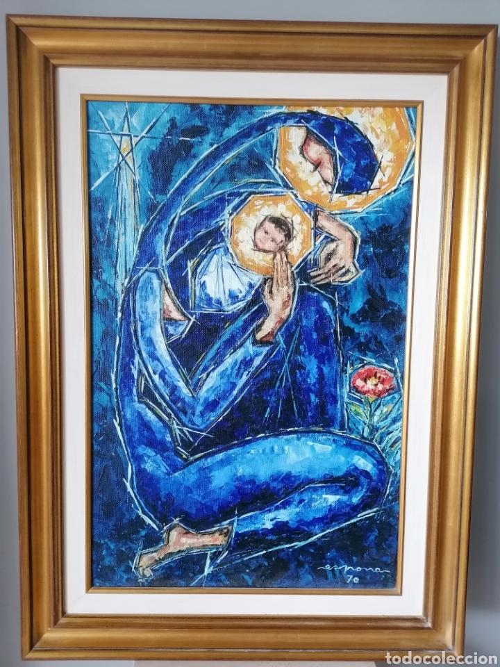 Arte: Vicente de Espona 1970 (1918 - 1995) con marco 90x65 / sin marco 70x44 cm - Foto 25 - 186460331