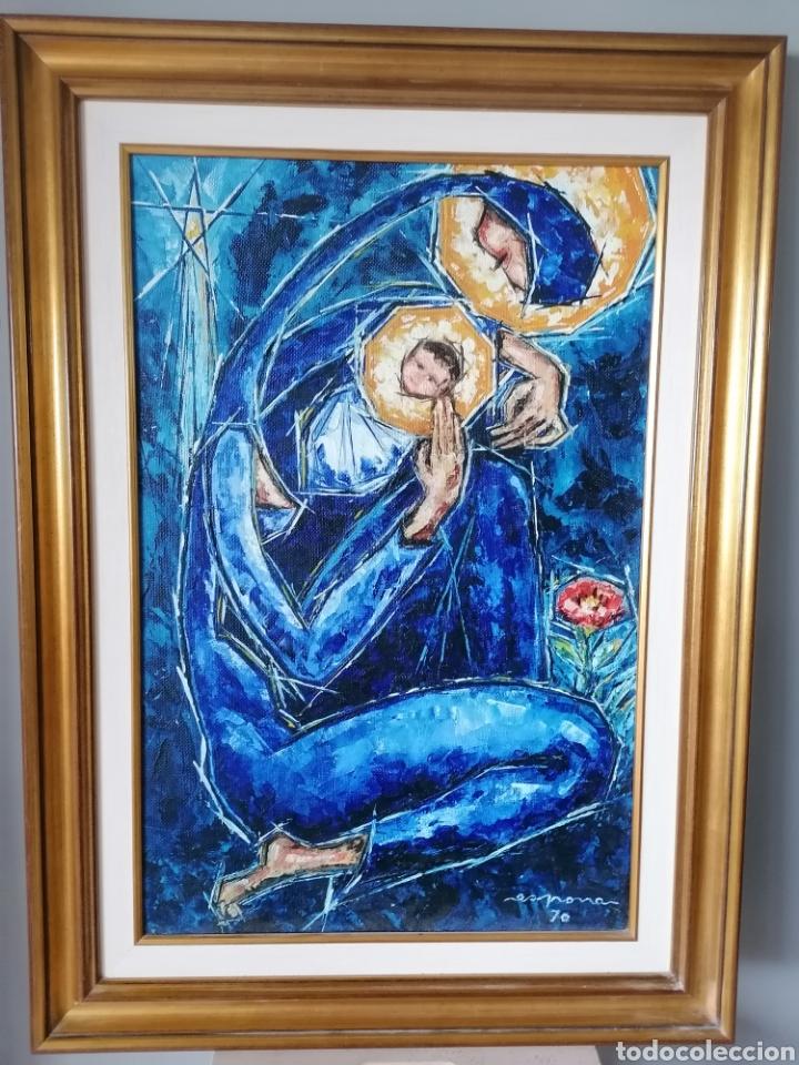 VICENTE DE ESPONA 1970 (1918 - 1995) CON MARCO 90X65 / SIN MARCO 70X44 CM (Arte - Pintura - Pintura al Óleo Moderna siglo XIX)
