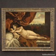 Arte: PINTURA ITALIANA ANTIGUA VENUS Y CUPIDO DEL SIGLO XVIII. Lote 186728776