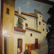 Arte: ÓLEO SOBRE TABLA FIRMADO . Lote 187100581
